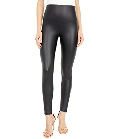 Yummie Signature Waistband Faux Leather Leggings with Zipper Women