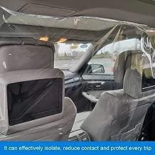 MATCC Barriere per Veicoli Pellicola Isolante per Auto Trasparente Tenda di Isolamento Cabina Anteriore e Posteriore Auto Taxi Plastica Protezione Completa Completa Anti-Appannamento 1,4x1,8 m