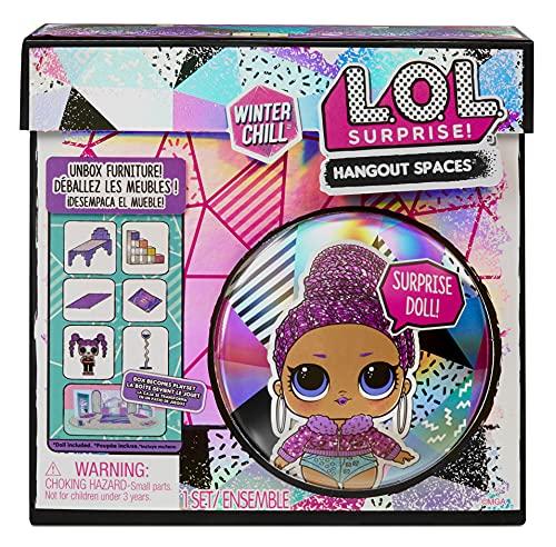 L.O.L. Surprise!- LOL Surprise Winter Chill Bling Queen-con más de 10 sorpresas Que Incluyen muñeca, Accesorios y Muebles-Set de Juego Plegable-Coleccionable-Edad: 4+ años, Color (576631C3)