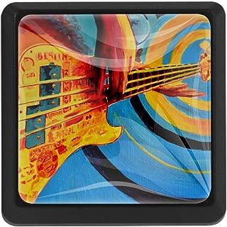 DEYYA Music Guitar Vintage Brick Square Crystal Glass Cabinet Door Knobs Pulls Handles Ergonomics Drawer Handles 3pcs