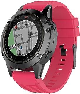 BabiQ for Garmin Fenix 5X Plus Soft Silicone Sports Strap Replacement Adjustable Wristband Bracelet