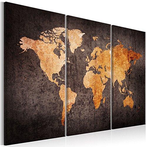murando Impression sur Toile intissee Carte du Monde 135x90 cm Tableau 5 Parties Tableaux Decoration Murale Photo Image Artistique Photographie Graphique Vintage k-A-0337-b-g