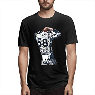 American Football Star, Men's Full Printing Relaxed Fit Navy Tee Shirt All American Football,American Football Teams