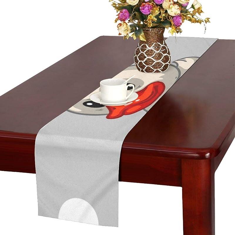 スリッパ形テロGGSXD テーブルランナー すばやい アヒル クロス 食卓カバー 麻綿製 欧米 おしゃれ 16 Inch X 72 Inch (40cm X 182cm) キッチン ダイニング ホーム デコレーション モダン リビング 洗える