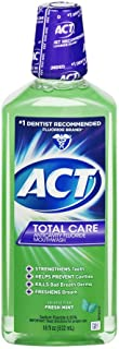 ACT Total Care Rinse Mouthwash Fresh Mint 18 Fl Oz (Pack of 1) Anticavity Fluoride Mouthwash Helps Support Tooth Strength and Oral Health to Help Prevent Tooth Decay and Cavities