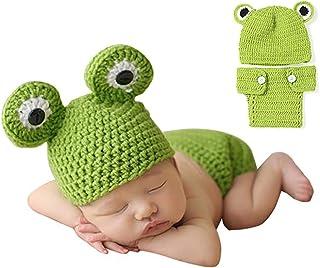 Lindo bebé foto fotografía Prop ropa para 0 – 6 meses bebé recién nacido rana Talla:estándar