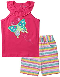 Meeyou Little Girls' Lovely Tank top & Essential Shorts Set