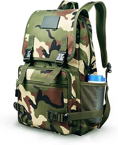 RFJJ sacs à dos extérieur épaule Camouflage étanche Quatre Saisons Universel Hommes et Femmes Camping randonnée Sac Sacs de Voyage