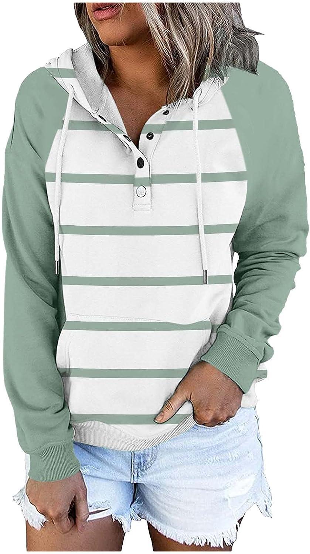 WANJXQUIY Women Casual Gradient Color Hooded Sweatshirt Long-Sle