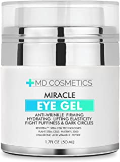 NEW FORMULA FOR 2019! MD Cosmetics Eye Gel for Dark Circles, Puffiness, Wrinkles and Bags. - The Most Effective Anti-Aging Eye Gel for Under and Around Eyes - 1.7 fl oz