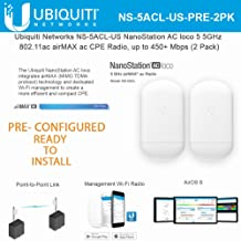 NanoStation AC loco 5 NS-5ACL-US PRE CONFIGURED 5GHz 802.11ac Airmax ac CPE Radio 450+ Mbps Wireless Access Point (2 Pack)