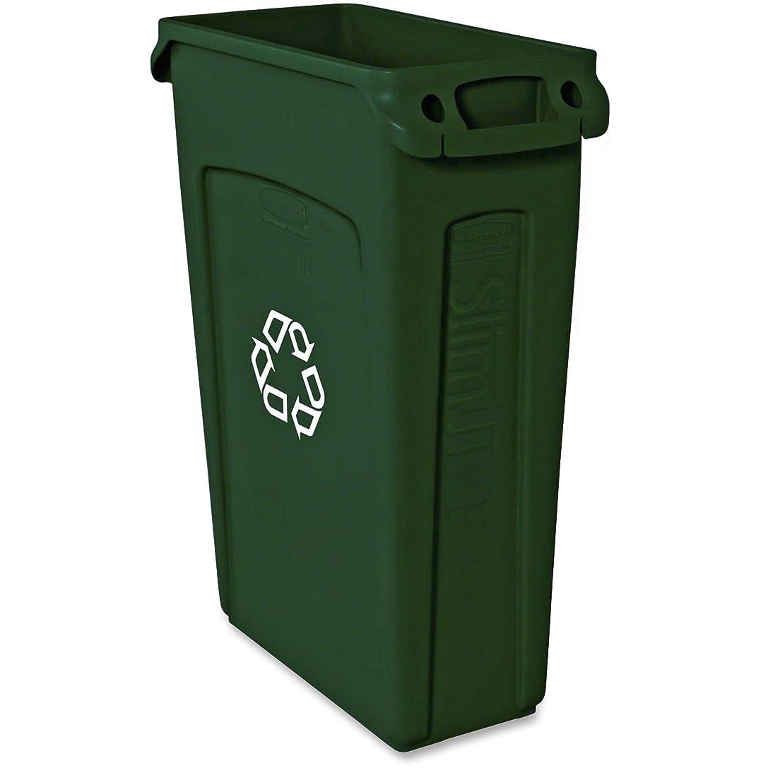 人柄三番ボットスリムジム?リサイクルコンテナW / ventingチャネル、プラスチック、23?Gal、グリーン、Sold As 1?Each