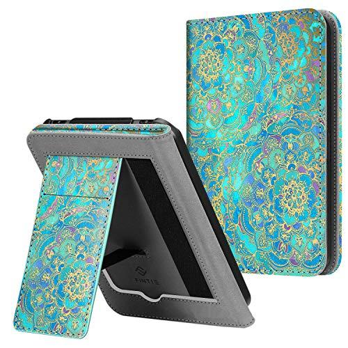Fintie Hülle für Tolino Vision 4 HD/Vision 3 HD/Vision 2 / Vision 1 / Shine 2 HD eReader, Kickstand Schutzhülle mit Kartenfach Handschlaufe & Auto Sleep/Wake Funktion, Jade