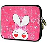 Amzer 7.9-10.5 Inches Designer Neoprene Sleeve Case for iPad/Tablet/e-Reader and Notebooks, Cute Bunny Ears (AMZ5228105)