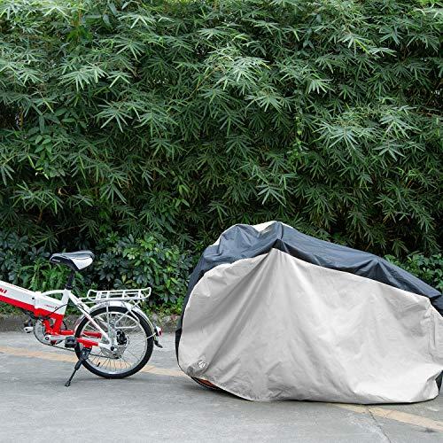 Yeedoop自転車カバーオックス製撥水加工UVカット(グレー,S)