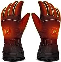 Verwarmde Handschoenen Heren, Verwarmde Dames Handschoenen met Battery Pack 4000mAh, elektrische motorfiets Werk verwarmde...