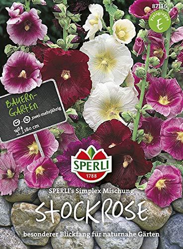 Sperli Blumensamen Stockrose Simplex Mischung, grün