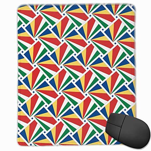 Tappetino per mouse Seychelles Bandiera Tessere da gioco Tappetino per mouse Design personalizzato antiscivolo 25 x 30 x 0,3 cm