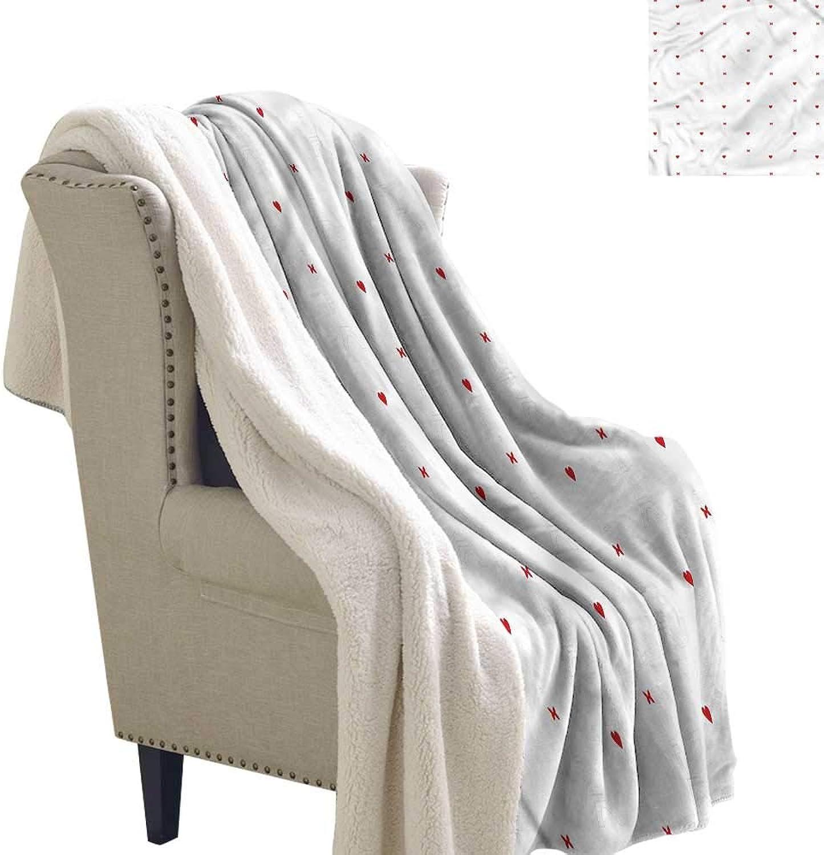 Beihai1Sun Eiffel Lightweight Fluffy Flannel and Sherpa Blanket Cute Hearts Bowties Warm Breathable Comforter for Girls Kids Adults 60x32 Inch