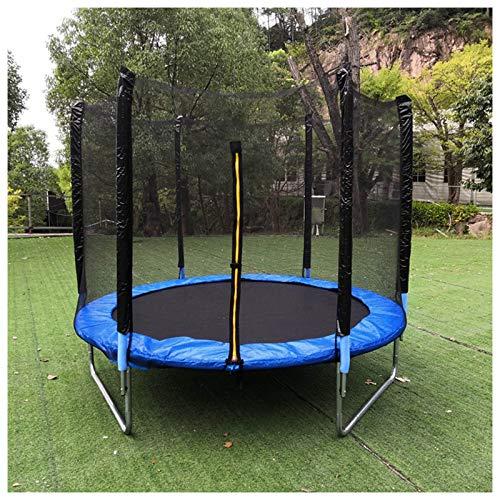 Filet de Sécurité Remplacement pour Trampoline, Filet de Trampoline de Sports de Plein Air pour Enfants avec Zip, Ø Diamètre 120 140 150 183 244 306 cm (Noir, Diamètre 120 cm de 6 Piquet/S)