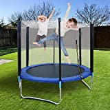 6FT Trampoline for Kids & Adults,Outdoor Mini Recreational Trampolines with Safety Enclosure Net and Jumping Mat for Indoor and Outdoor Backyard,Max Loading Capacity 150LBS