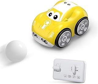 DEERC ラジコンカー こども向け リモコンカー フォローモード 障害物回避モード パストラックモード 犬 猫 ペットおもちゃ 電動RCカー おもちゃ 車 2.4Ghz無線 プレゼント 贈り物 DE33Y(黄)