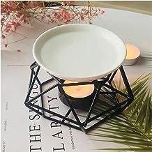 SXCHEN Delicate Romantic Ceramic Tealight Candle Holder Oil Burner, Essential Oil Incense Aroma Diffuser Furnace Home Deco...