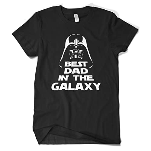 cbfcc58d Cybertela Men's Father's Day Gift Best Dad in The Galaxy T-Shirt