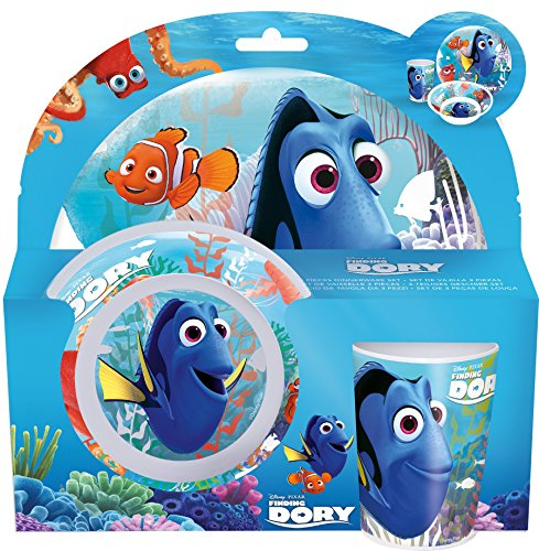 Stor - Disney 84590 Finding Dory - Set Vaisselle en mélamine 3 pièces