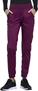 CHEROKEE Workwear WW Revolution Natural Rise Jogger, WW011, S, Wine