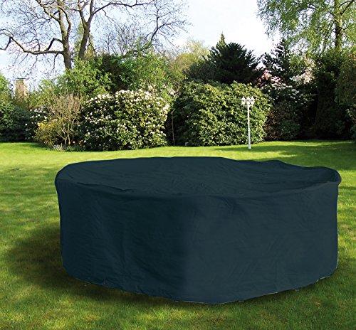 Copertura per mobili da Giardino, Copertura di Protezione arrotondare Fino a 200 Centimetri di Diametro Antracite