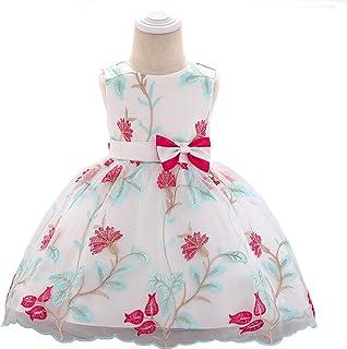 YGCLOTHES Vestido Niña, Girls Bowknot Princess Skirt sin Mangas,Girls Pageant Vestido Fiesta de Boda Comunión Baile de Fie...