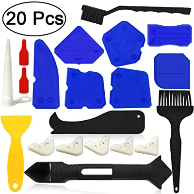AngelaAlex Caulking Tool Kits 20 PCS Caulk Remo...