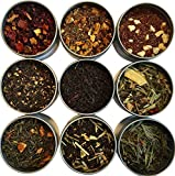 Heavenly Tea Leaves Flavored Tea Sampler, 9 Flavored Loose Leaf Teas