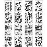 MWOOT 16 Pièces Pochoir Dessin Peinture Set,Alphabet Lettre Pochoirs pour l'apprentissage de la...