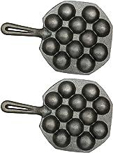 Minkissy 2 Pcs 12 Holes Takoyaki Pans, Takoyaki Maker Iron Meat Ball Molds Takoyaki Cooking Trays for Home Restaurant