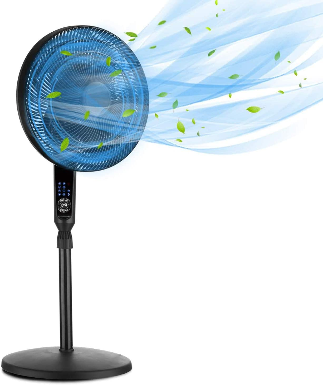 Super beauty product restock quality top GDY Pedestal Fan Today's only Adjustable Heights Deck LED 7.5-Ho Display