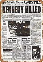 ケネディ殺された見出し 金属板ブリキ看板警告サイン注意サイン表示パネル情報サイン金属安全サイン