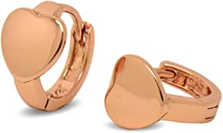 Yeahjoy Hoop Earrings 18K Gold Plated Rose Gold Plated Rounded Hoops Earrings for Women Girls