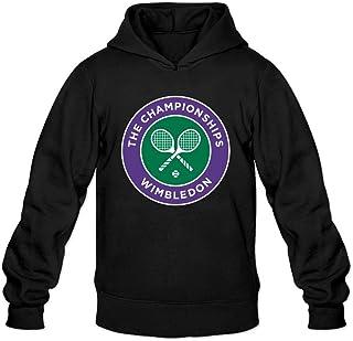 TMILLER Men's Wimbledon Championships Logo Hoodied Sweatshirt