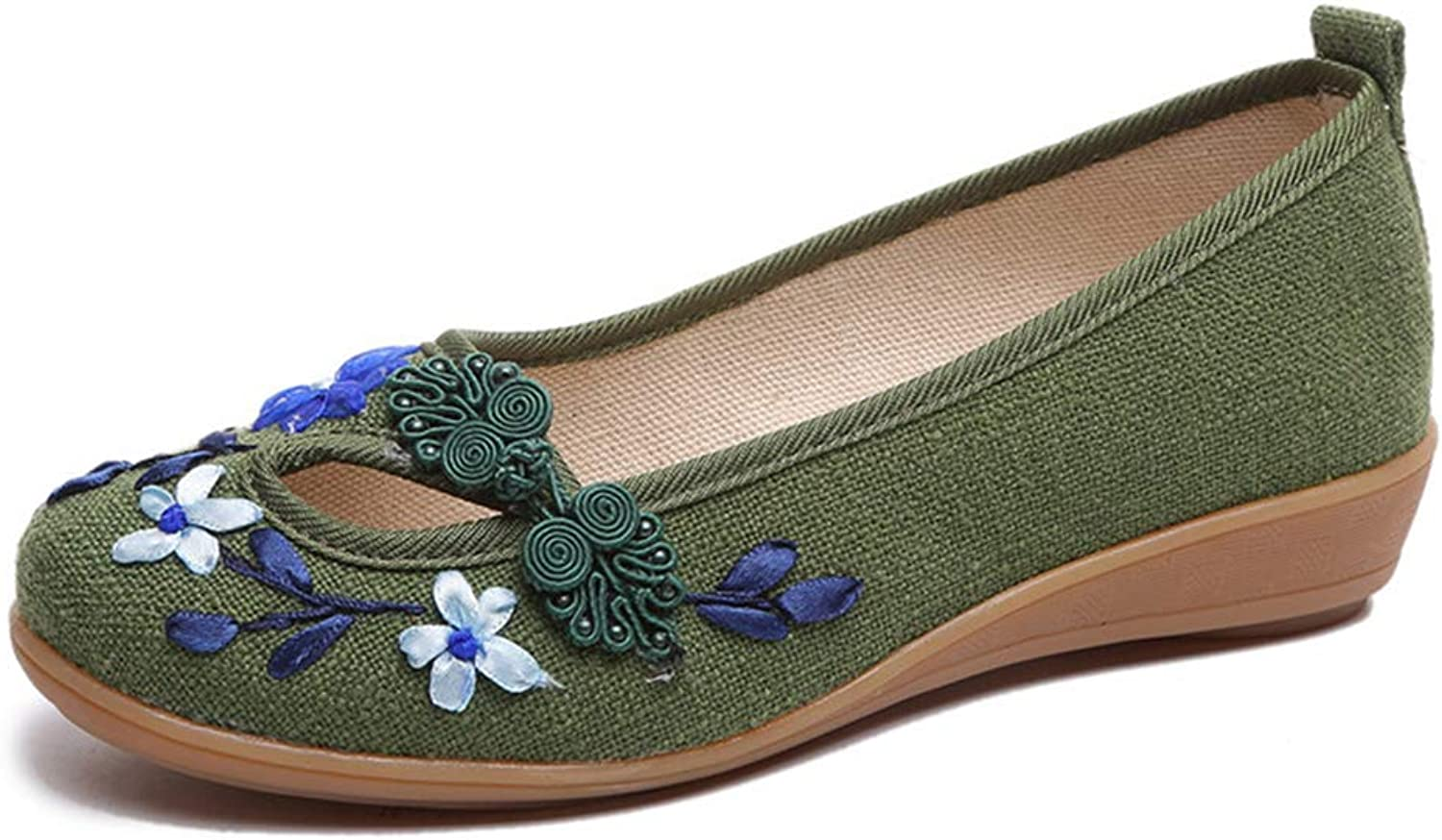 Kyle Walsh Pa Women Stylish Flats shoes Embroidered Flower Female Casual Handmade Moccasins