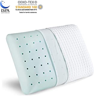 YANXUAN Cool Gel Memory Foam Pillow, Bamboo Cooling Bed Pillow with Washable Pillowcase, Standard