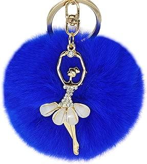 Fur Pom Pom KeyChain Bag Car Purse Charm Fluffy Fur Keychain Ball
