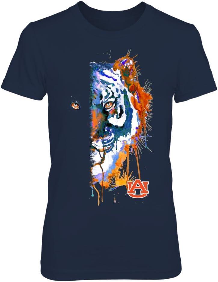 FanPrint Auburn Tigers T-Shirt Half - Face Wholesale Max 57% OFF
