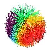 VGEBY1 Stressabbau Spielzeug, Ball Gummifäden Regenbogen Flauschige Jonglierball sensorische Stress Spielzeug Buschwusch Ball für Stressabbau