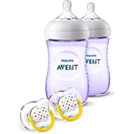 Philips Avent Natural Baby Bottle Purple Gift Set, SCD113/23