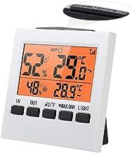 GUIPING Higrómetro Interno inalámbrico Digital LCD con Pantalla máxima y mínima Medición de Humedad de Control de Temperatura. (Color : Naranja)