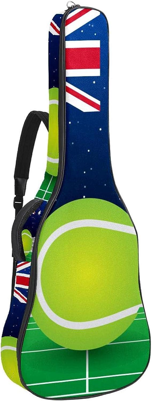 Paquete de guitarra acústica para principiantes, tamaño completo, con parte superior de abeto, bolsa para guitarra acústica, tenis australiano, bandera británica, 108,9 x 42,8 x 11,9 cm