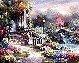SDGH Puzzle 1000 Teile Hölzern,Buntes Puzzle-Spiel (75*50cm) Kleine Brücke und fließendes Wasser Gartenlandschaft Fit Erwachsene und Kinder Puzzle,Geschicklichkeitsspiel für die ganze Familie