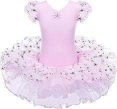 ZNYUNE Girls Ballet Leotard Tutu Skirt Ballerina and Sparkly Star Dancing Dress